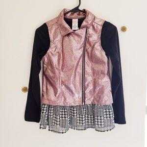Wonder Nation Girls Dress & Jacket Large 10 / 12